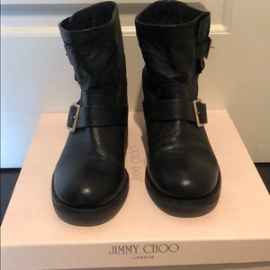 Jimmy Choo Youth Motorcycle Boots